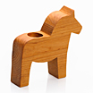 Dalahorse tea-light holder made from alder wood.