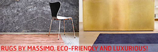 New arrival! Bamboo/wool rugs by Massimo, eco-friendly and luxurious...