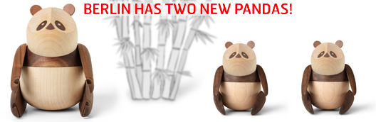 Berlin has two new pandas - Panda in two sizes by Bjarke Ingles / Architect Made.