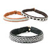 Leather bracelets, traditional handicraft from Lappland.
