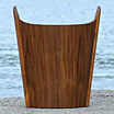 Oval, magazine holder / wastepaper basket by Einar Barnes.