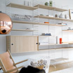 String shelving system by Nils Strinning / String.