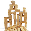 Wooden building blocks from Brio / Sweden.