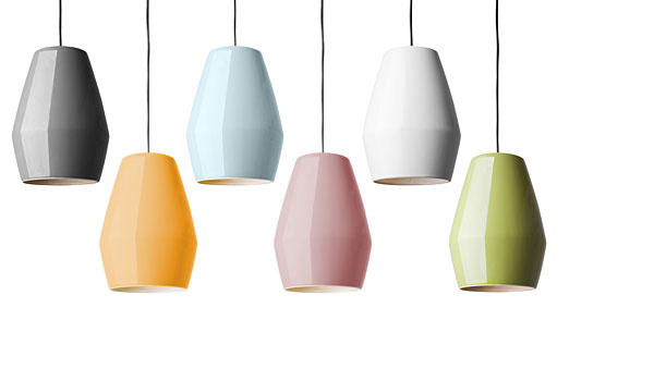 Bell Hanging Lamps In Four Colours By Mark Braun Northern