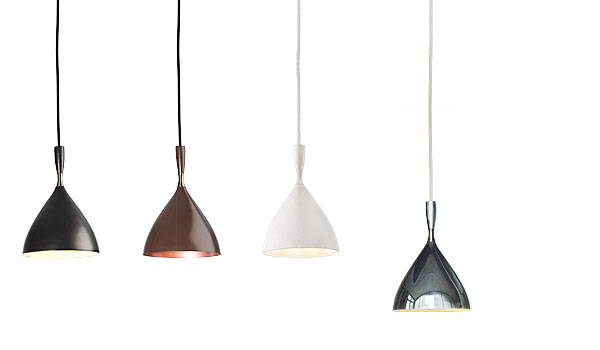 dokka hanging lamps in four colours by birger dahl northern. Black Bedroom Furniture Sets. Home Design Ideas