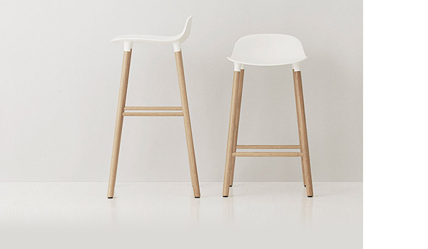 Form Bar Stool With Wood Legs By Simon Legald Normann Copenhagen