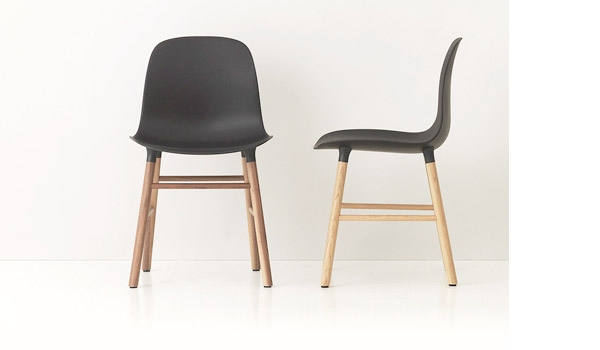 Form Chair With Wood Legs By Simon Legald Normann