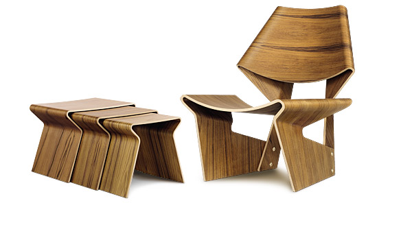 Wonderful ... GJ Chair And Nesting Table, Here The Teak Version, By Grete Jalk /  Lange ... Design