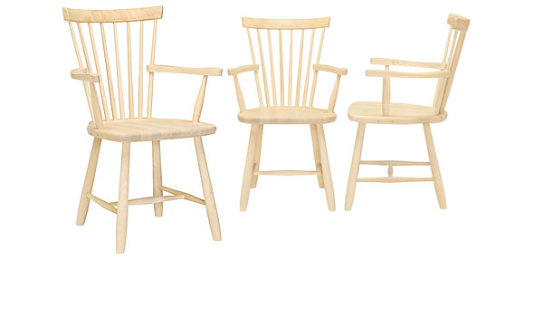 lilla land windsor style chair with arm rests by carl. Black Bedroom Furniture Sets. Home Design Ideas