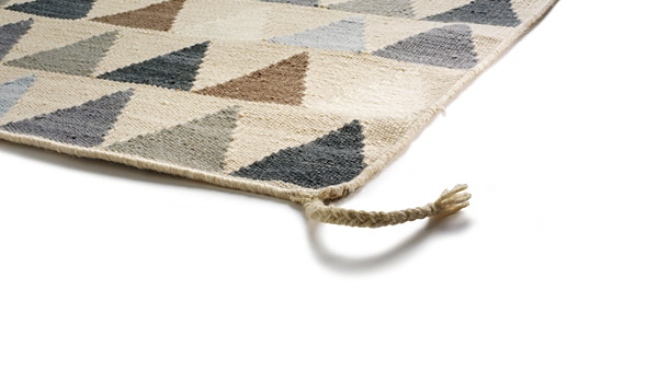 Mini Flag Nordic (white), kelim carpet by Thomas Sandell
