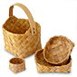 Birch baskets, traditional handicraft from Sweden.