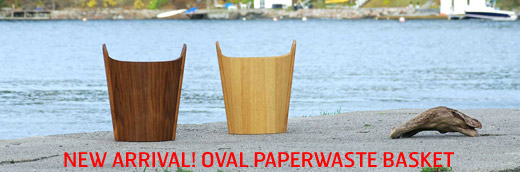 New arrival! Oval, wastepaper basket/magazine holder by Einar Barnes.