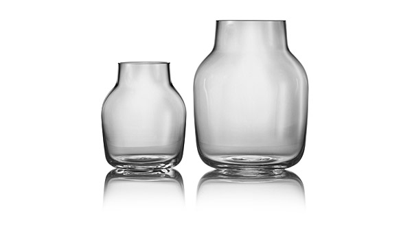 Silent Glass Vases Grey By Andreas Engesvik Muuto