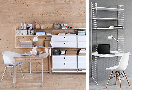 String Shelving System As Work Space By Nils Strinning